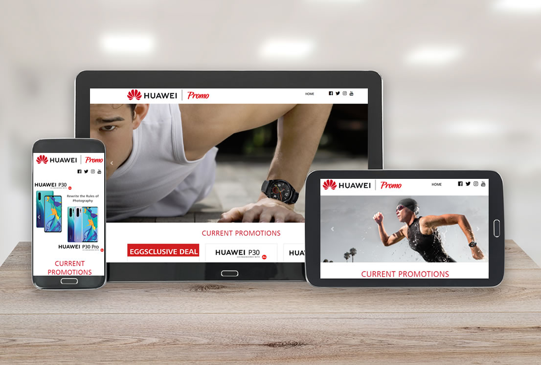 Huawei Promotional site developed by Smudge