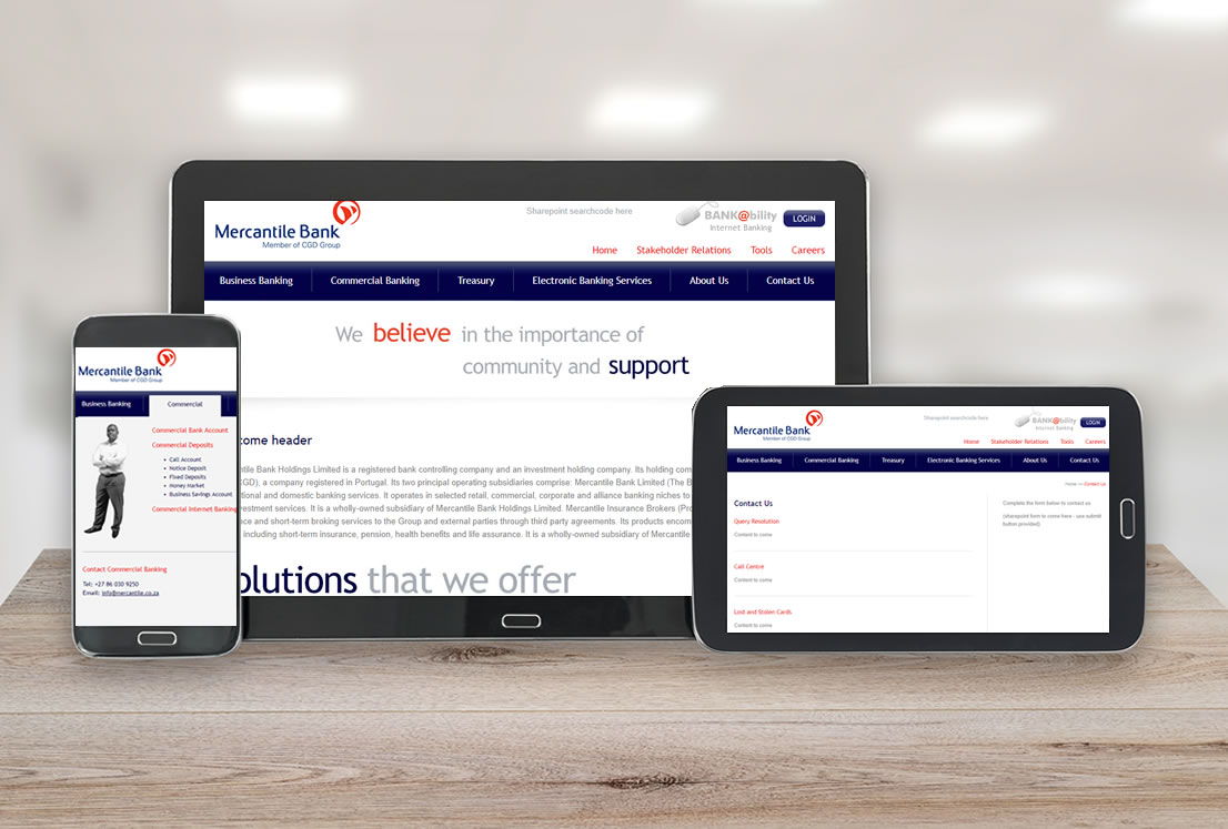 Mercantile Bank Website Developed By Smudge