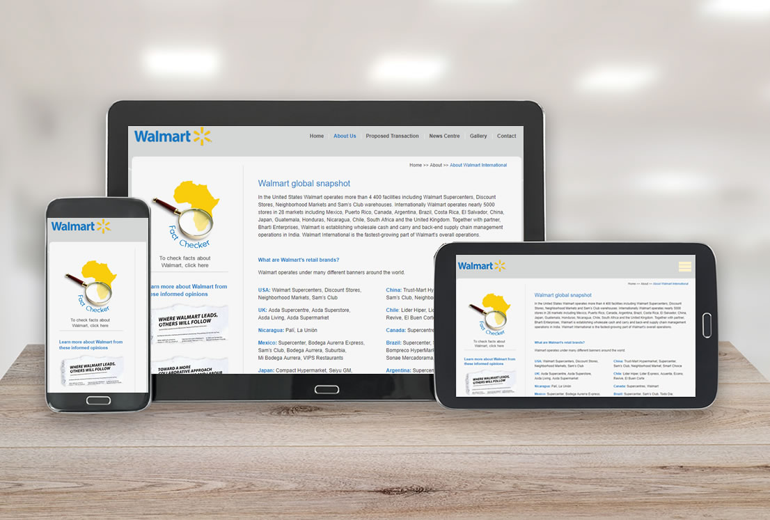 Walmart works with Smudge web development agency
